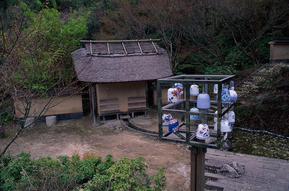 이마리 나베시마야키 회관 앞 풍경오브제